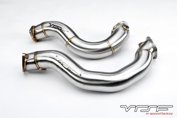 """VRSF 3"""" Cast Stainless Steel Catless Downpipes V2 N54 07-10 BMW 335i / 08-10 BMW 135i-0"""