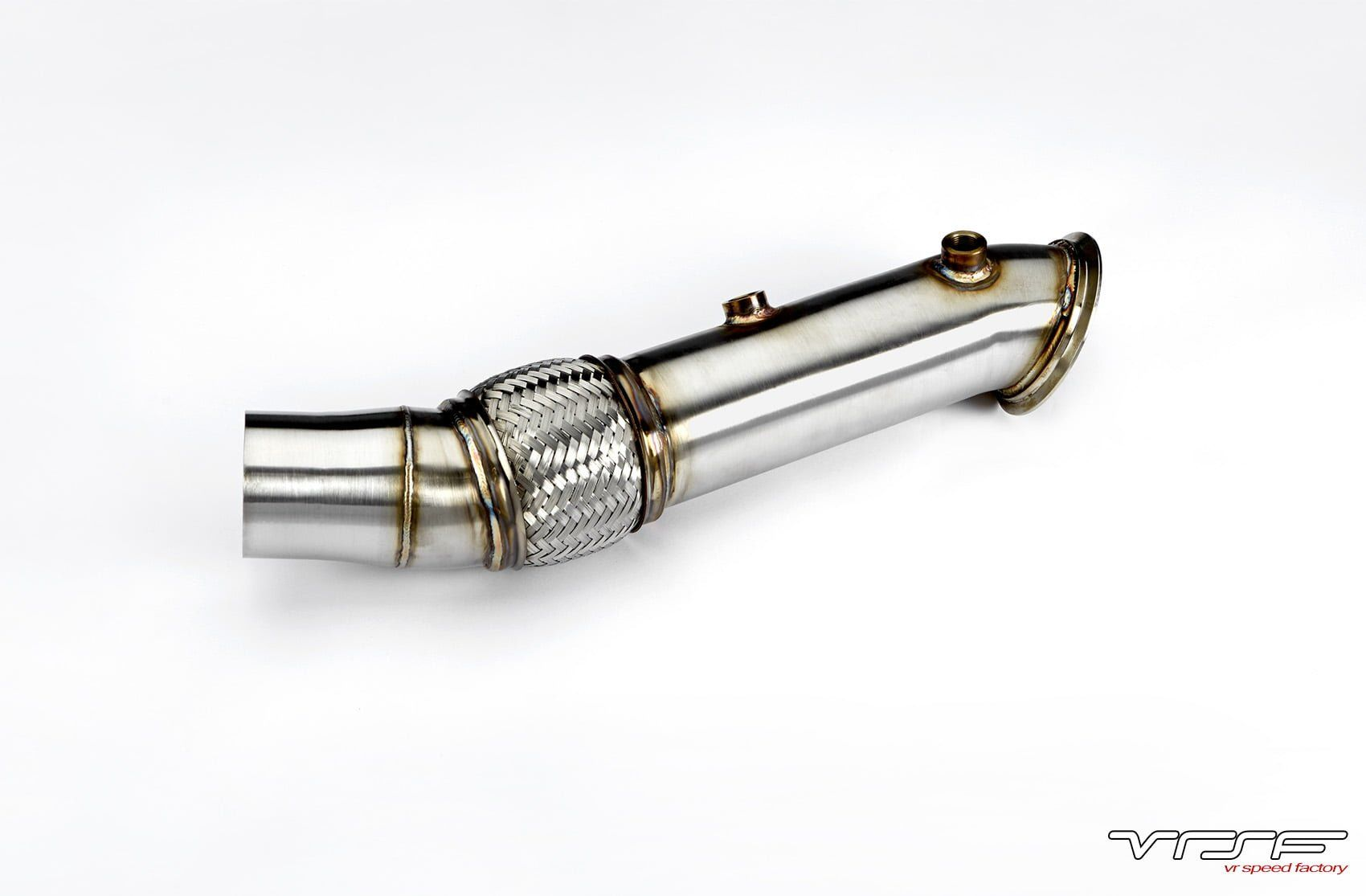 VRSF Stainless Steel Catless Downpipe Upgrade for F10/F11/F07 535i/xi  F12/F13 640i E70/E71 X5 X6 - VR Speed Factory