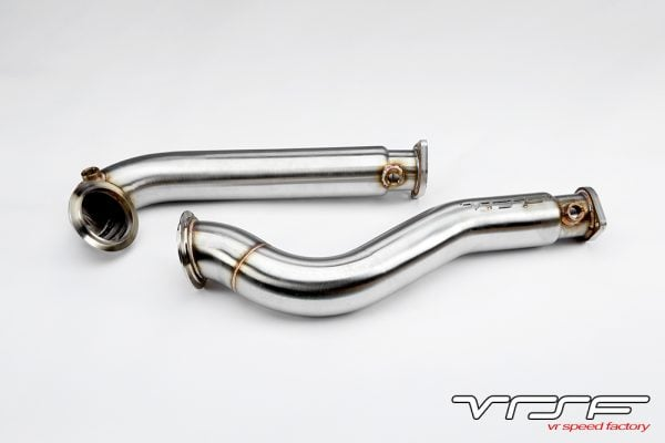 "VRSF 3"" Stainless Steel Catless Downpipes N54 E60 2008 - 2010 BMW 535i & 535xi-0"