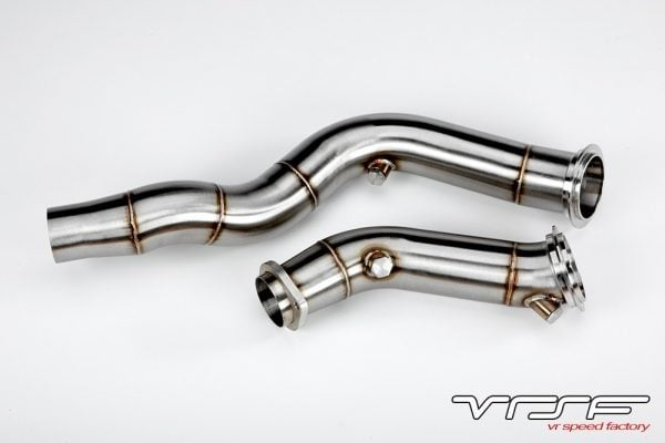 "VRSF 3"" Cast Stainless Steel Catless Downpipes 15-19 BMW M3 & M4 & M2 Competition S55 F80/F82/F87-0"
