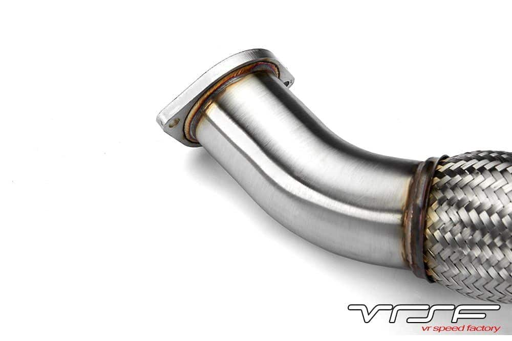 VRSF 335D Stainless Steel Catless Downpipe M57 08-12 BMW 335D - VR Speed  Factory